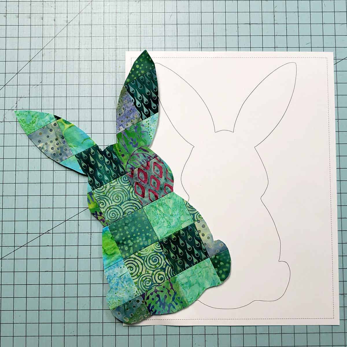 Patchwork squares used for applique