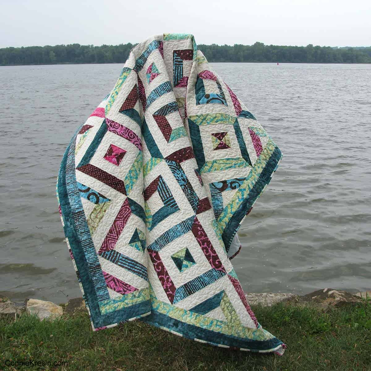 Petunia Strings quilt tutorial