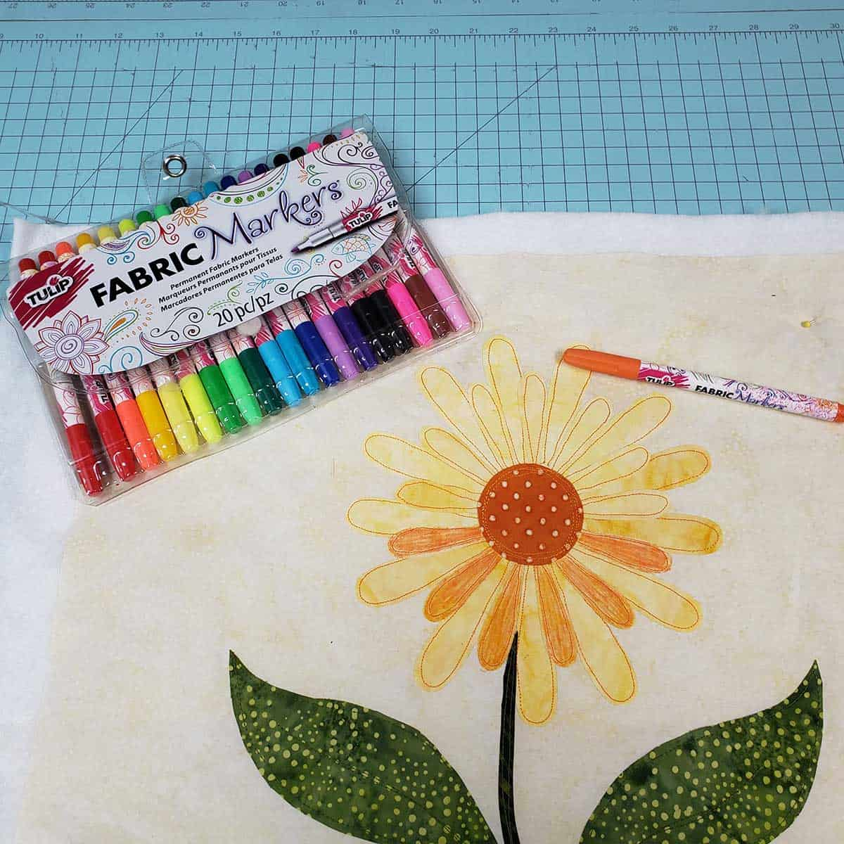 Starting to use the fabric markets on the applique