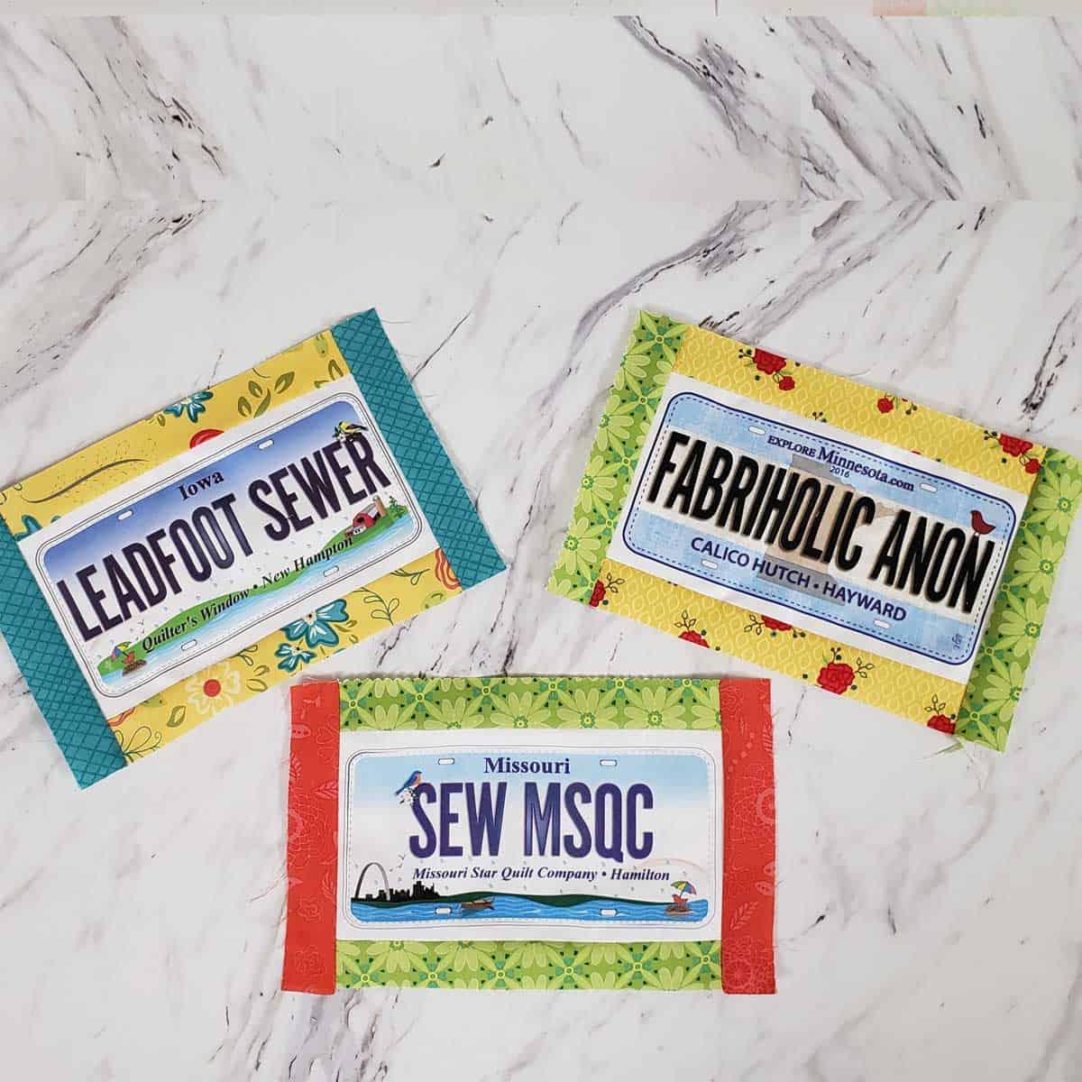 Quilt Shop license plates