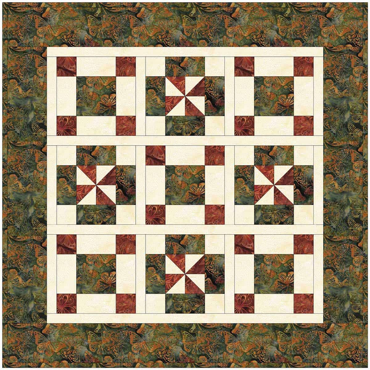 add sashing between the quilt blocks