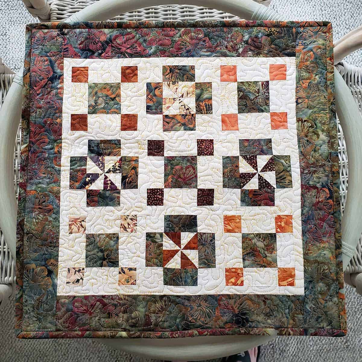 Qurtis quilt as a table topper