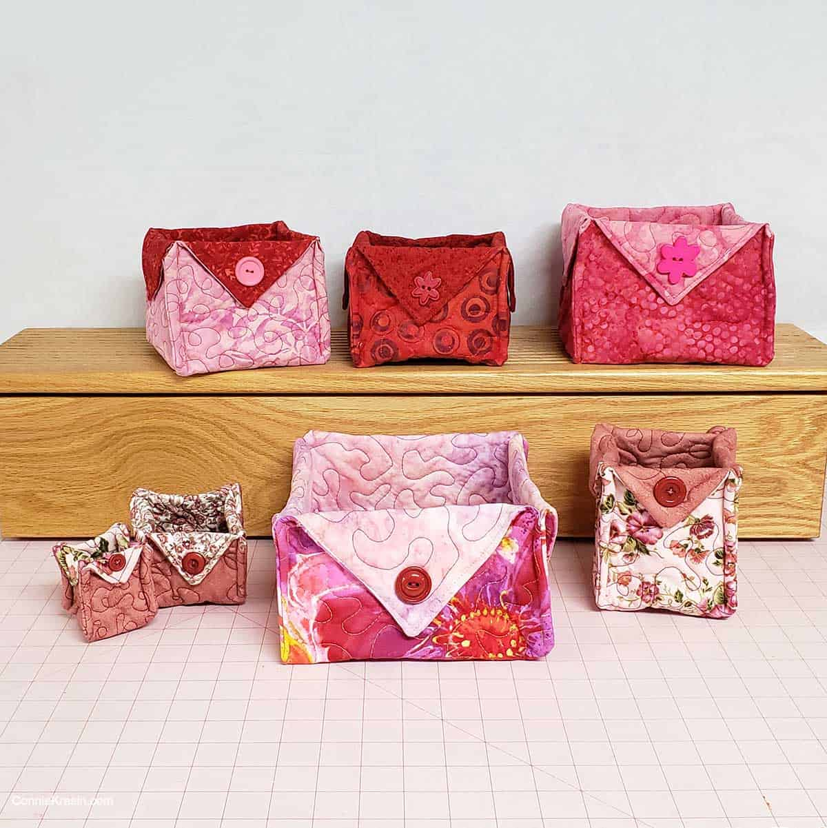 Fabric Baskets for Valentine's Day