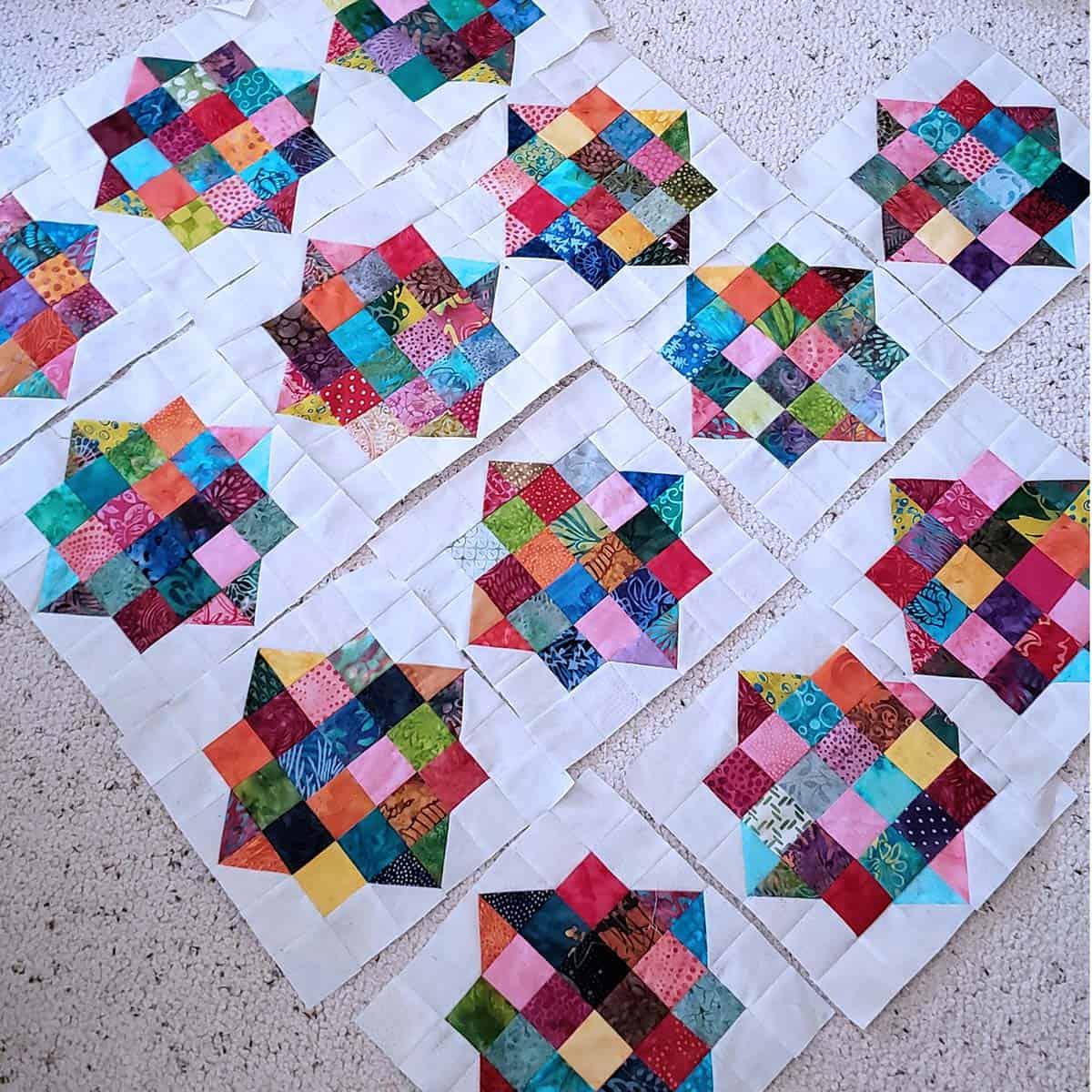 River Scraps quilt pattern quilt blocks