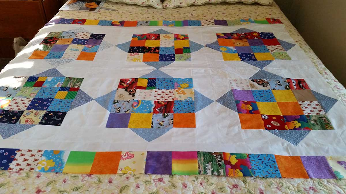 River Squares quilt by Sharon