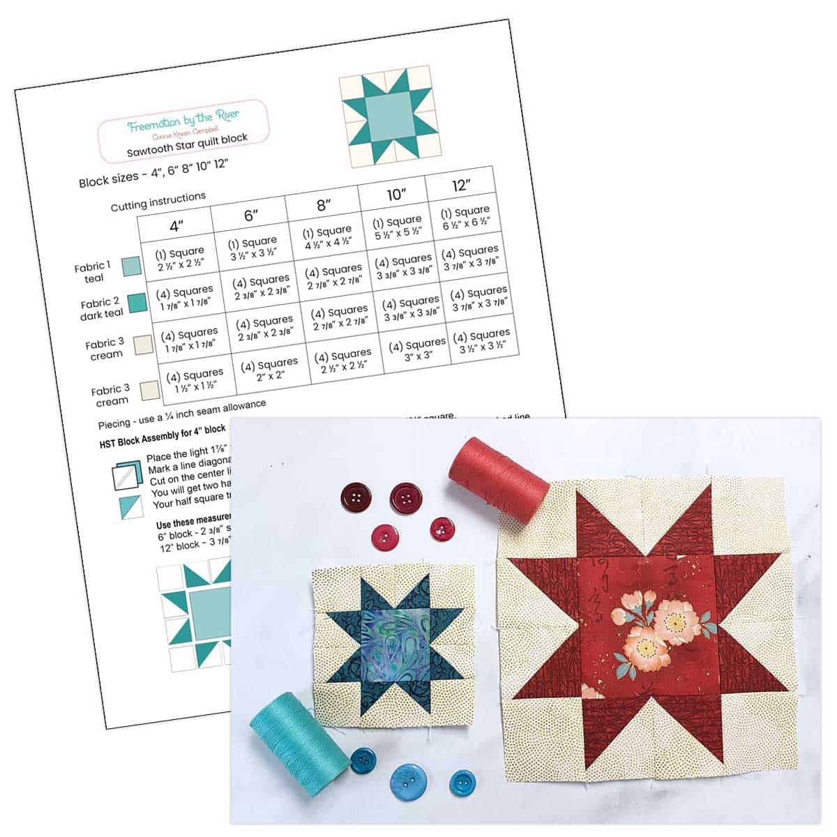 Free pdf of quilt block tutorial