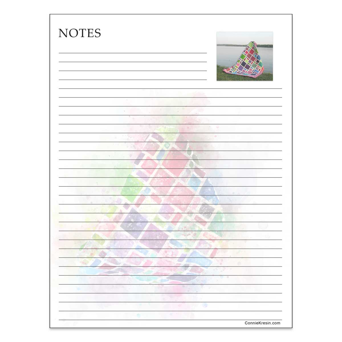 Notes printable of Scattered quilt