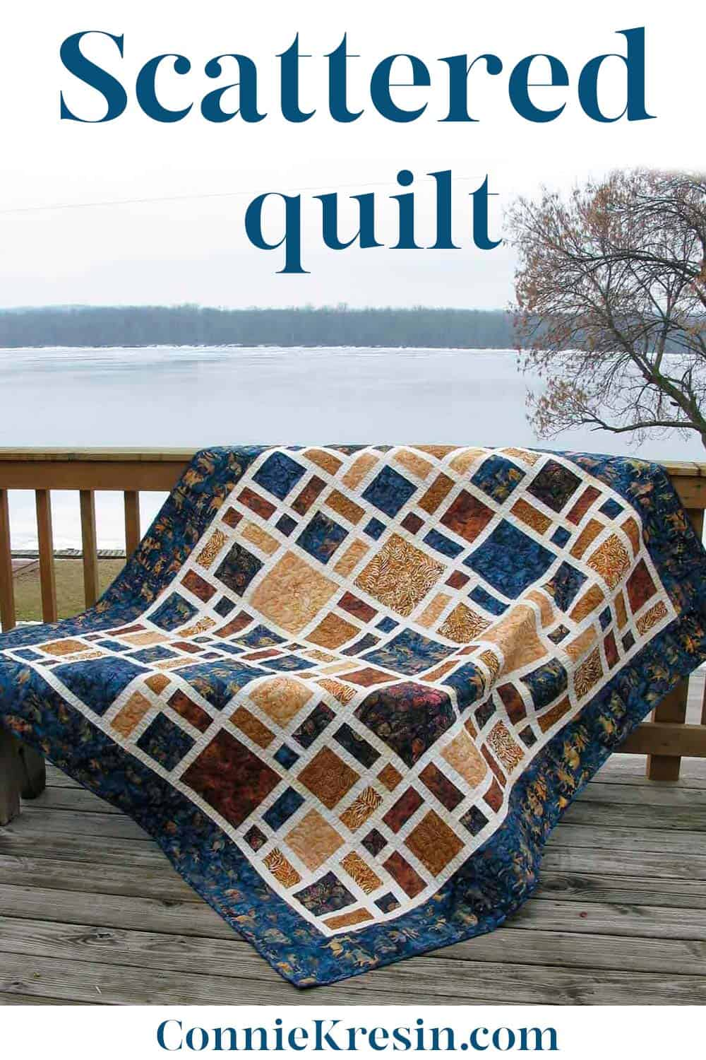 Scattered quilt pattern -fast and easy to make