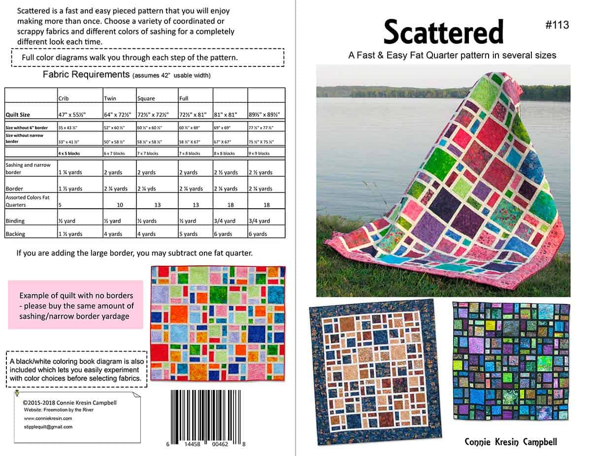 Scattered pattern cover