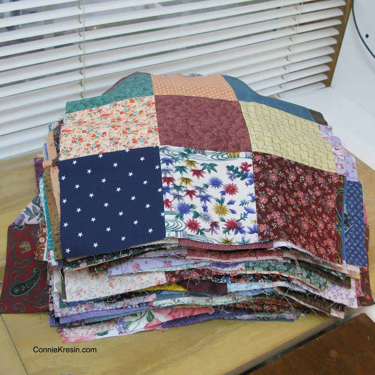 9 patch quilt blocks already pieced
