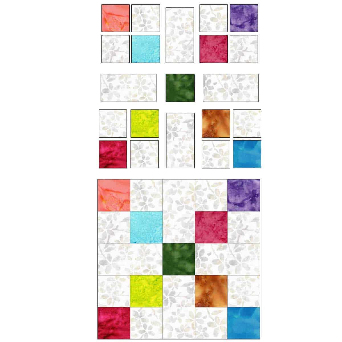 Scrappy quilt block number 1
