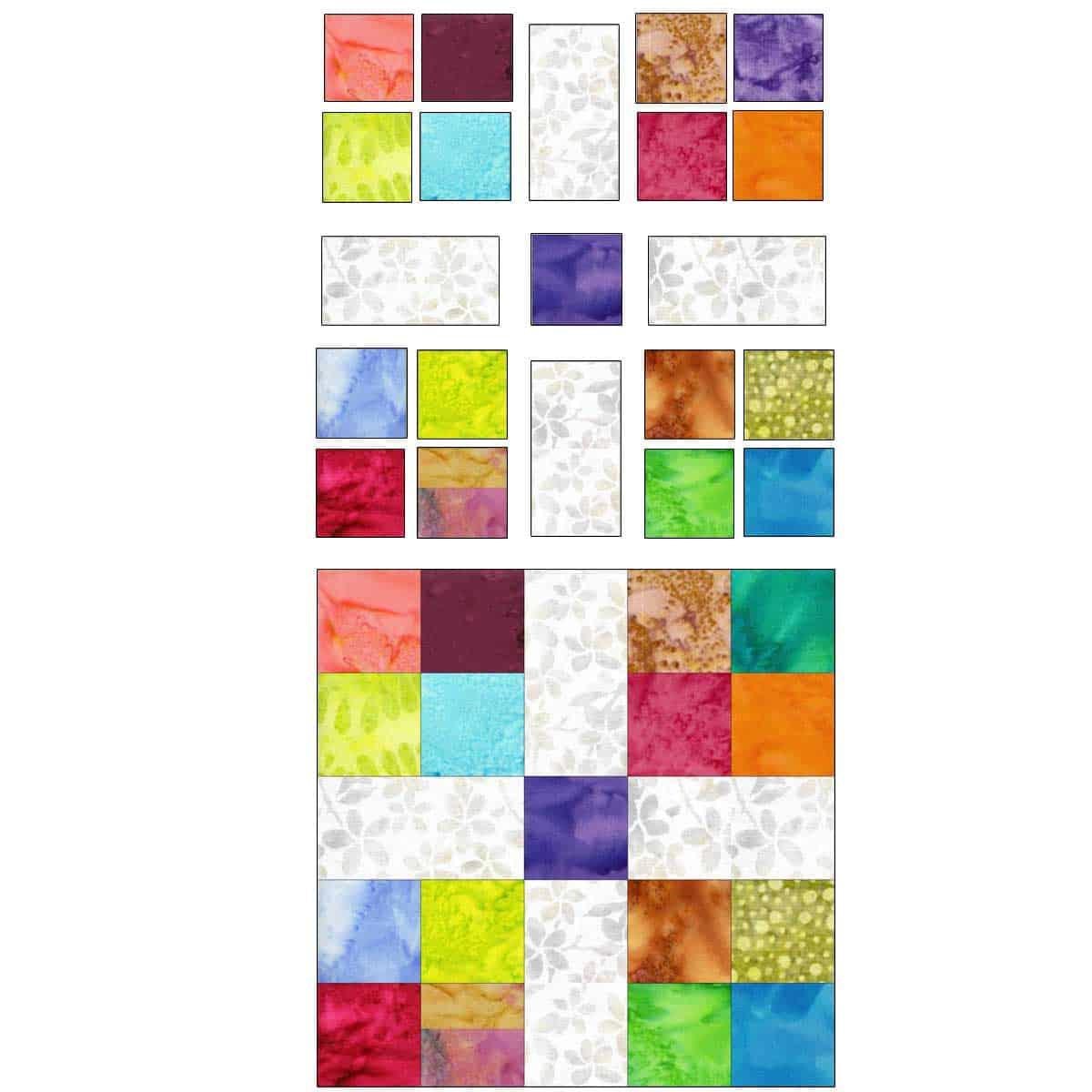 Scrappy quilt block number 2