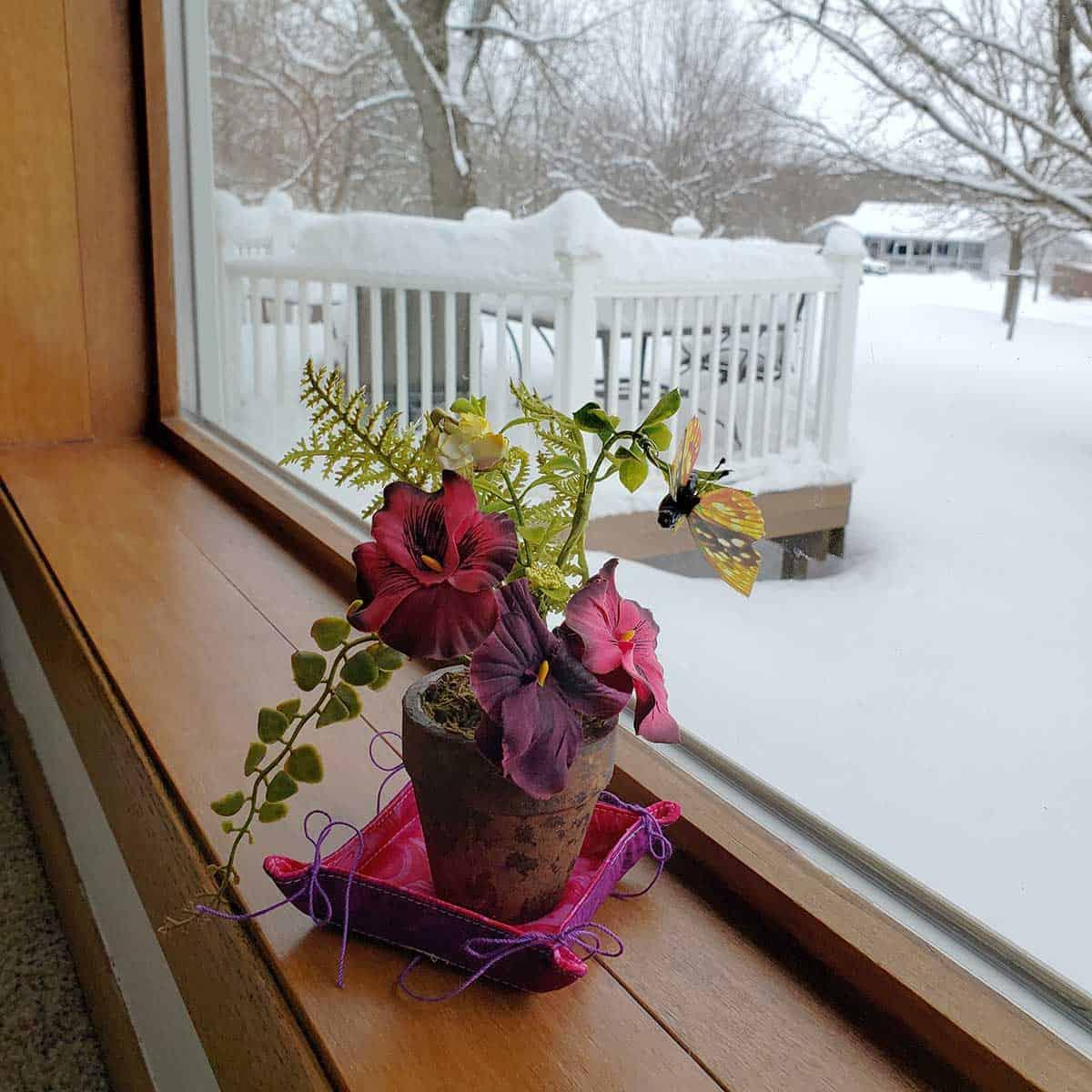 Valentine trinket basket from Sherry