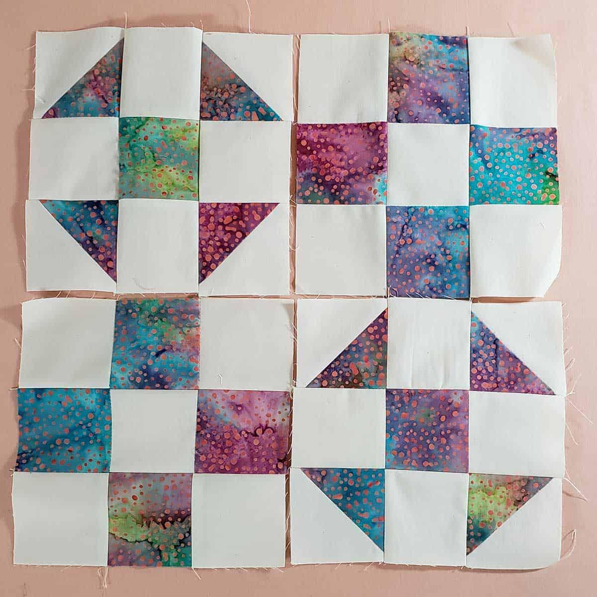 Four quilt blocks