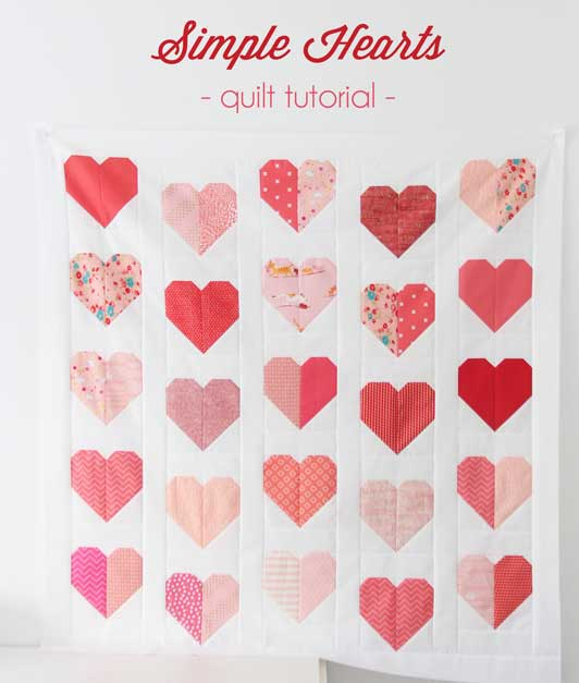 Simple Hearts quilt