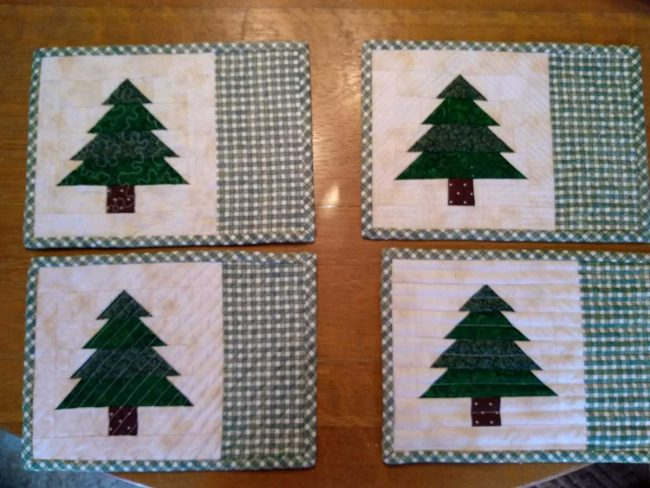 Tree placemats by Stacia