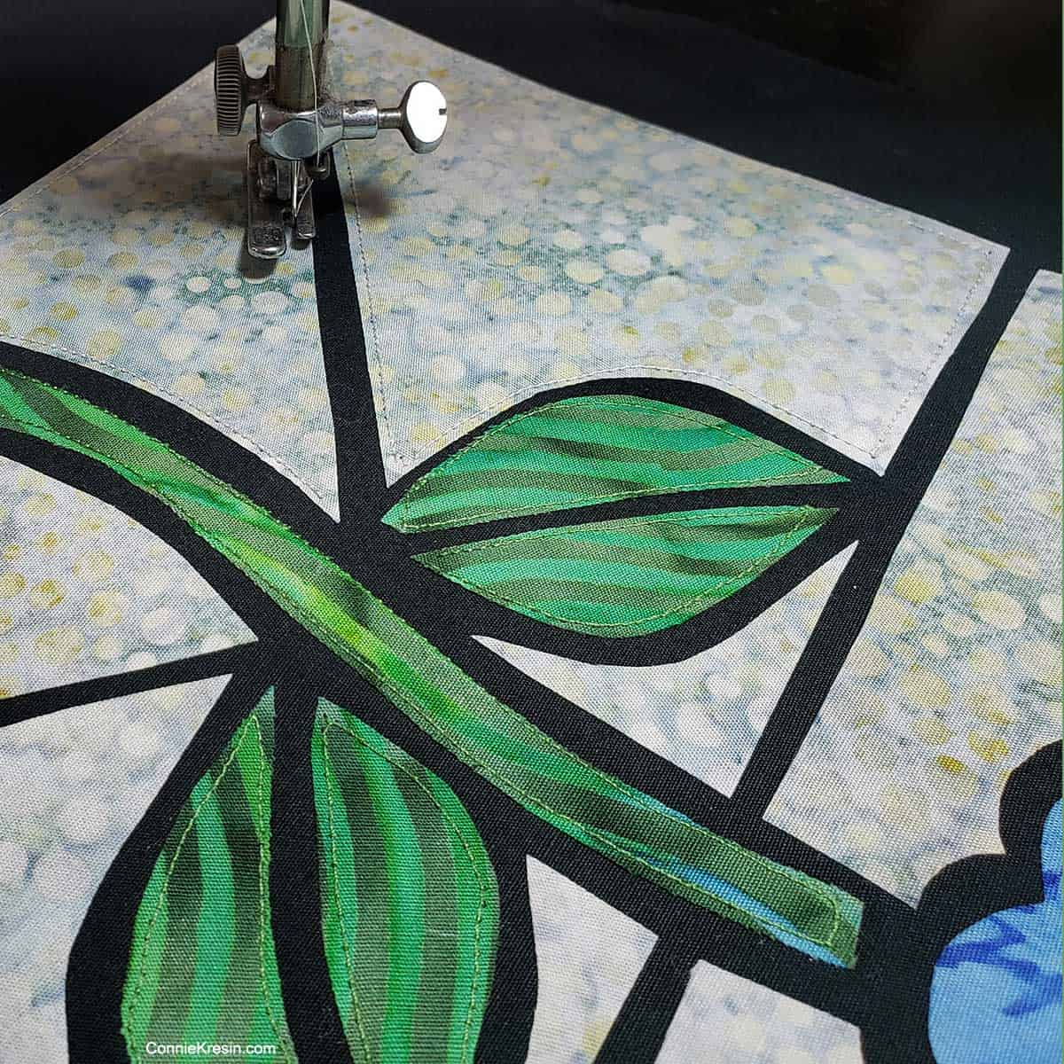 Working on stained glass quilt project