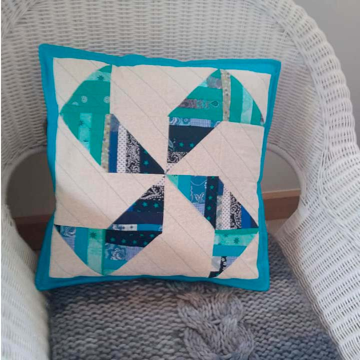 String block pillow