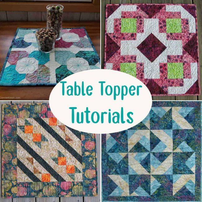 Table Topper tutorials