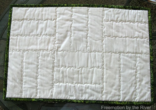 quilting back