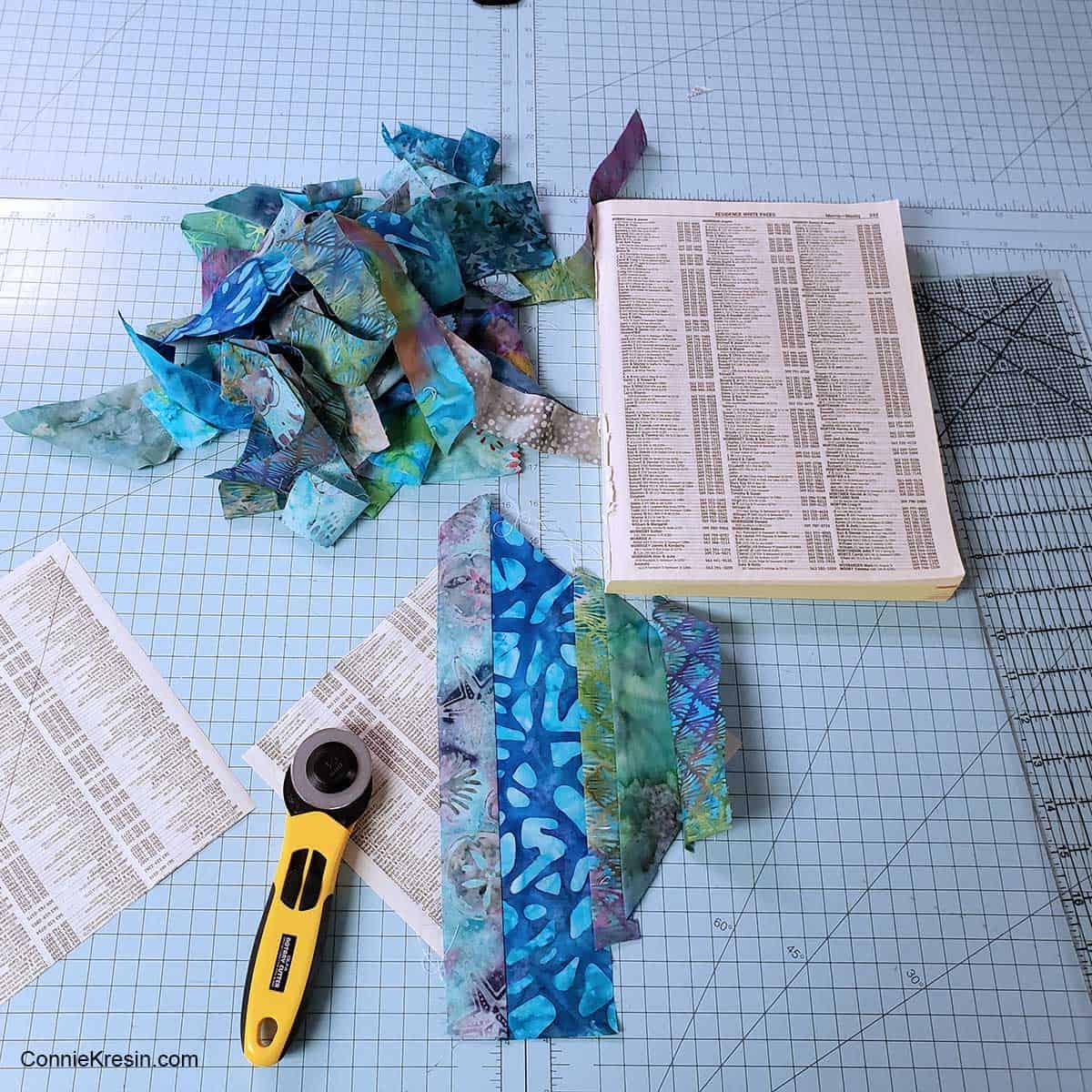 Batik fabrics for the string blocks
