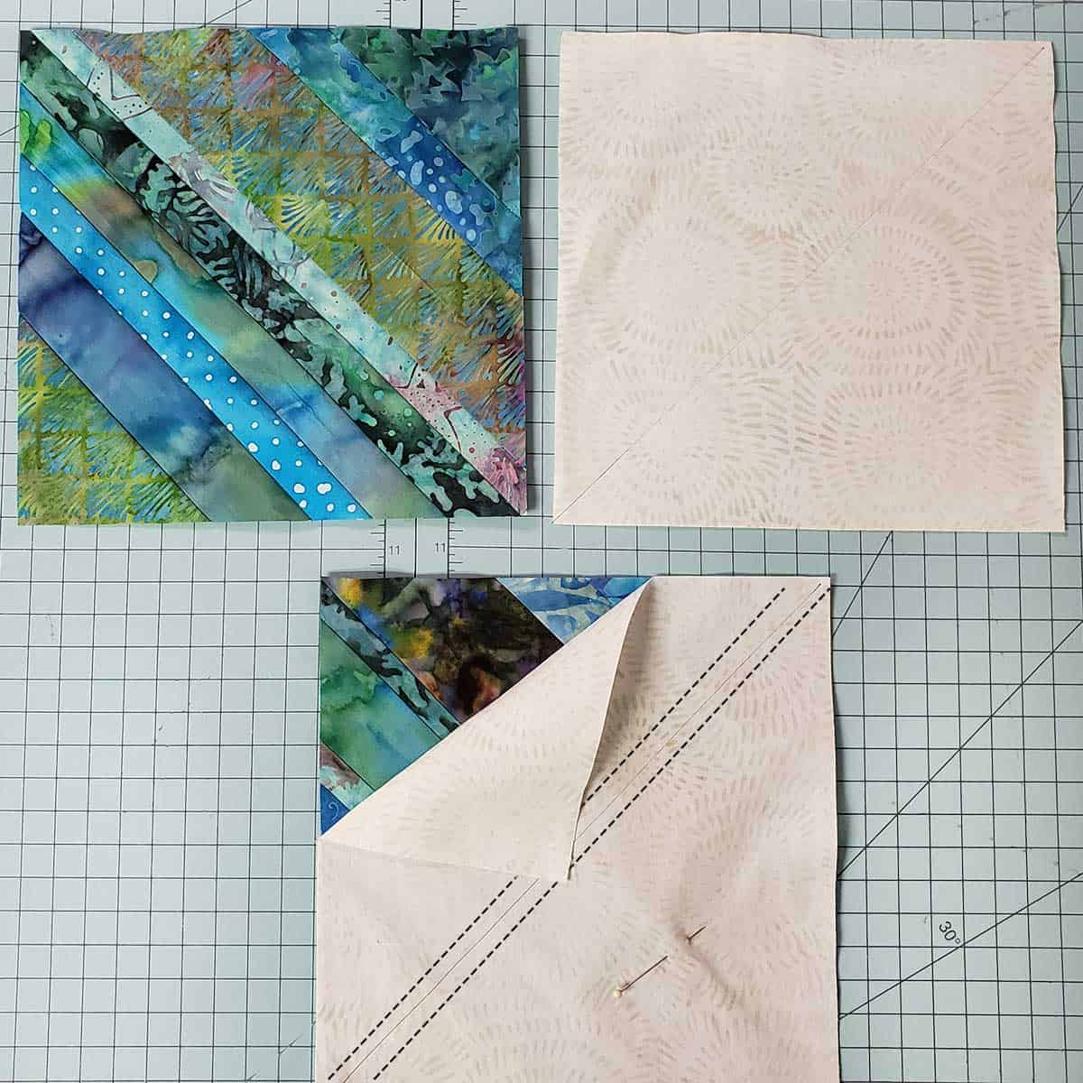 Stitching lines for block