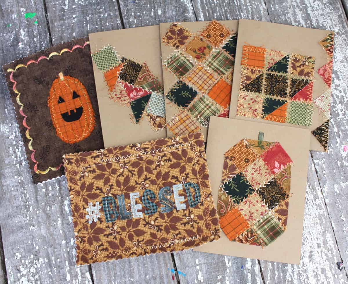 Thankful quilt cards