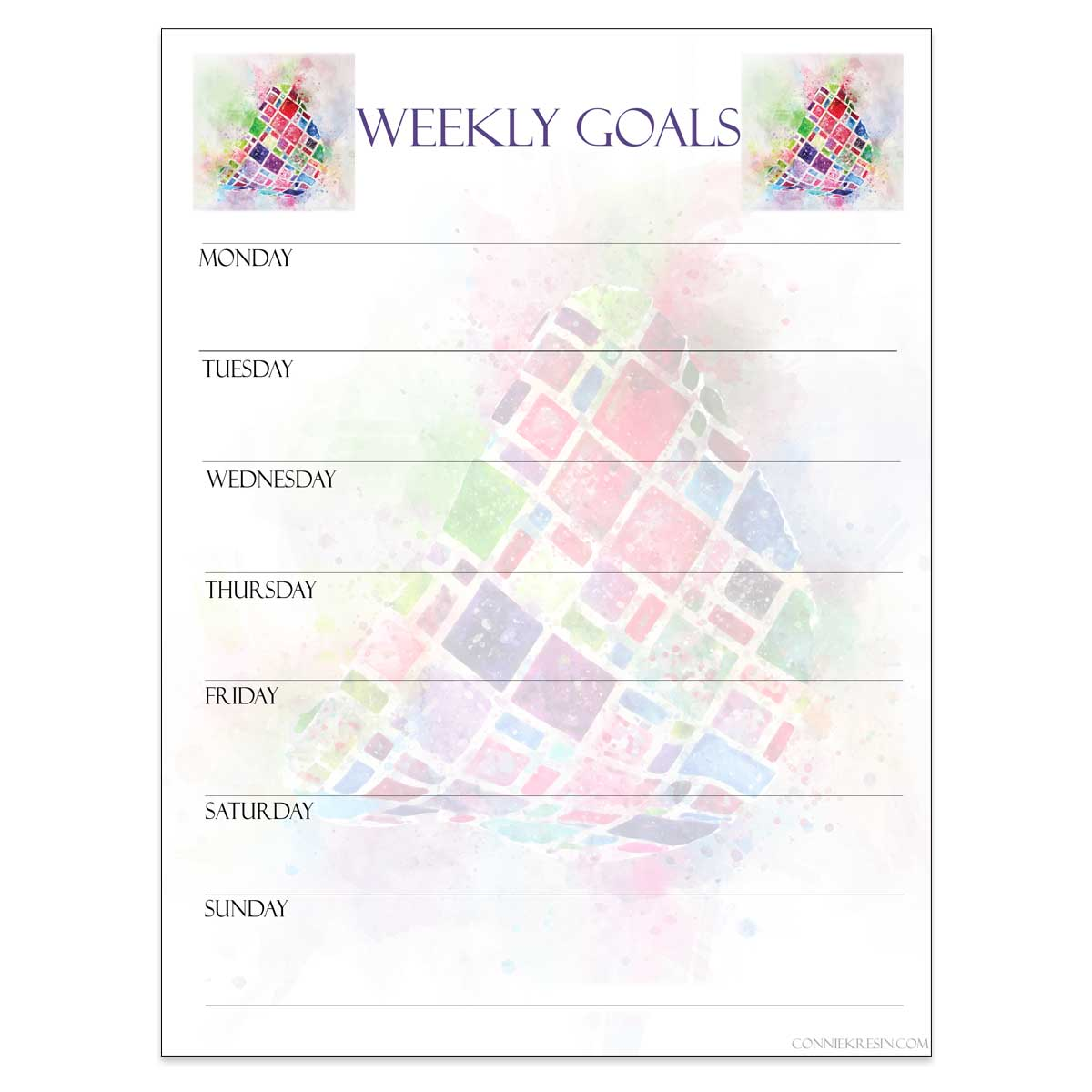 Weekly Goals starting on Monday