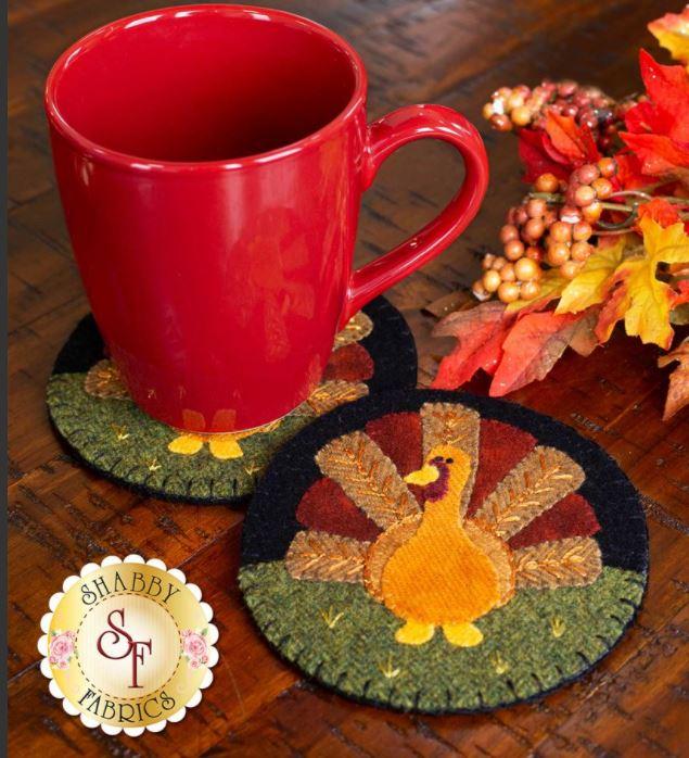 Turkey Wool mug rug pattern