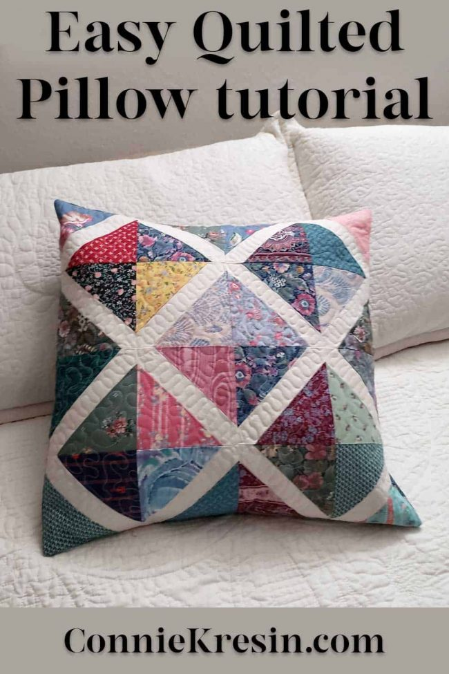 Tutorial for the X Spot quilt pillow
