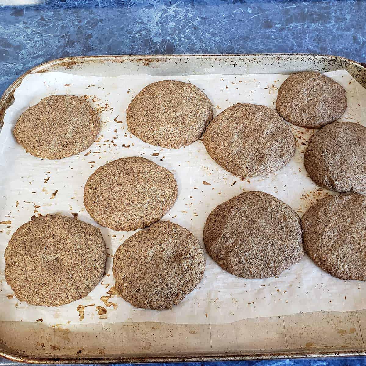 Acorn Cookies in oven