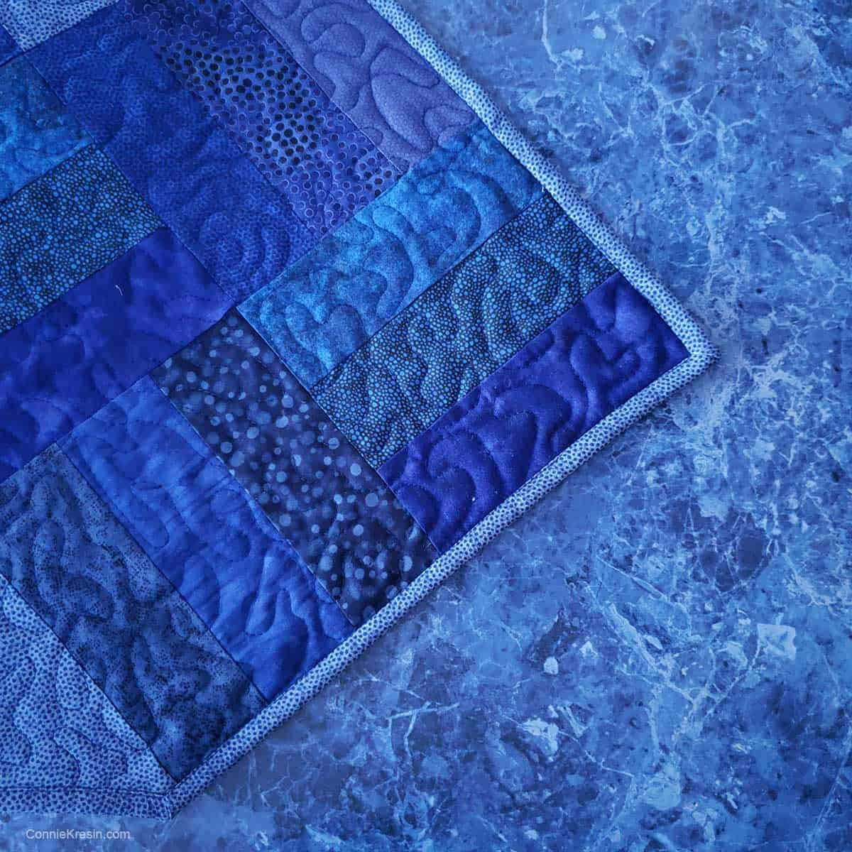 Blue Lapis counter top and table runner