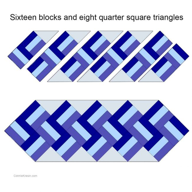 Diagram showing how to layout the blocks and setting blocks
