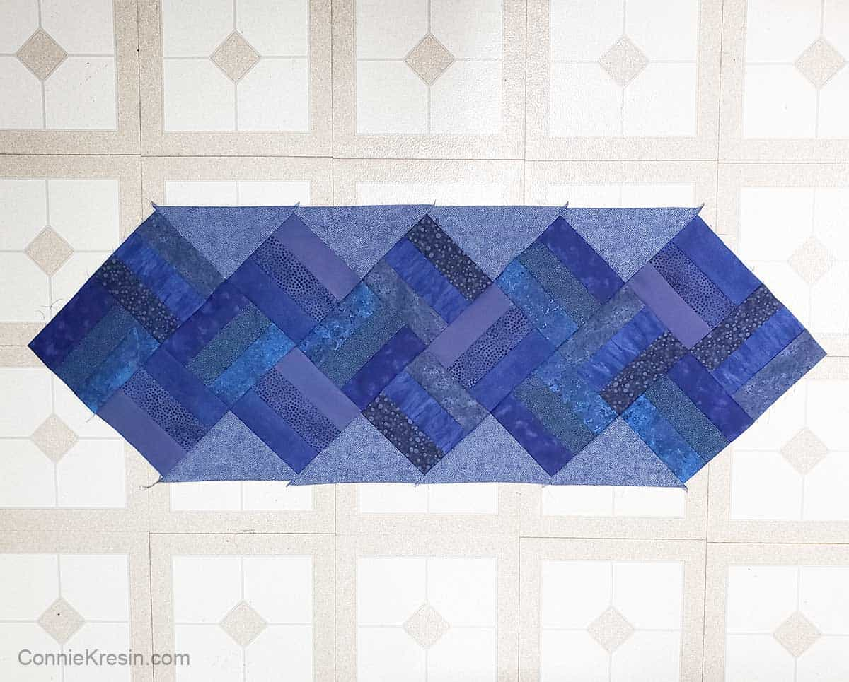 Completely pieced table runner