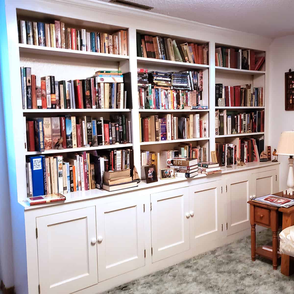 Bookcases at new house