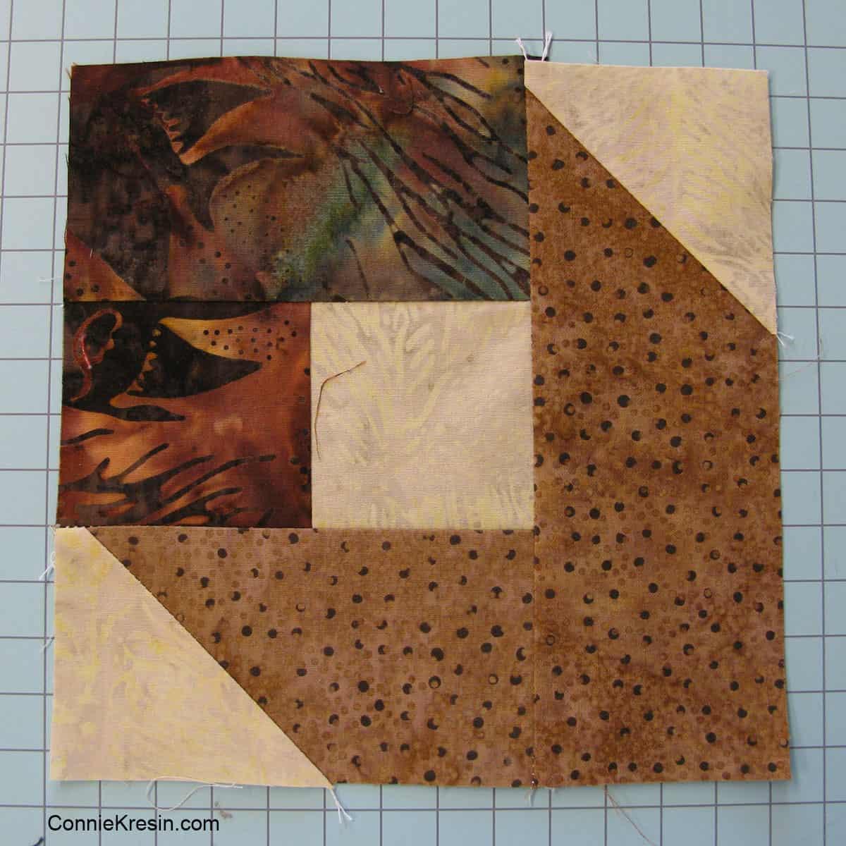 Batik Box quilt block tutorial