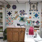 design walls in quilt studio