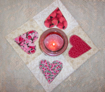 Country Heart applique candle mat tutorials