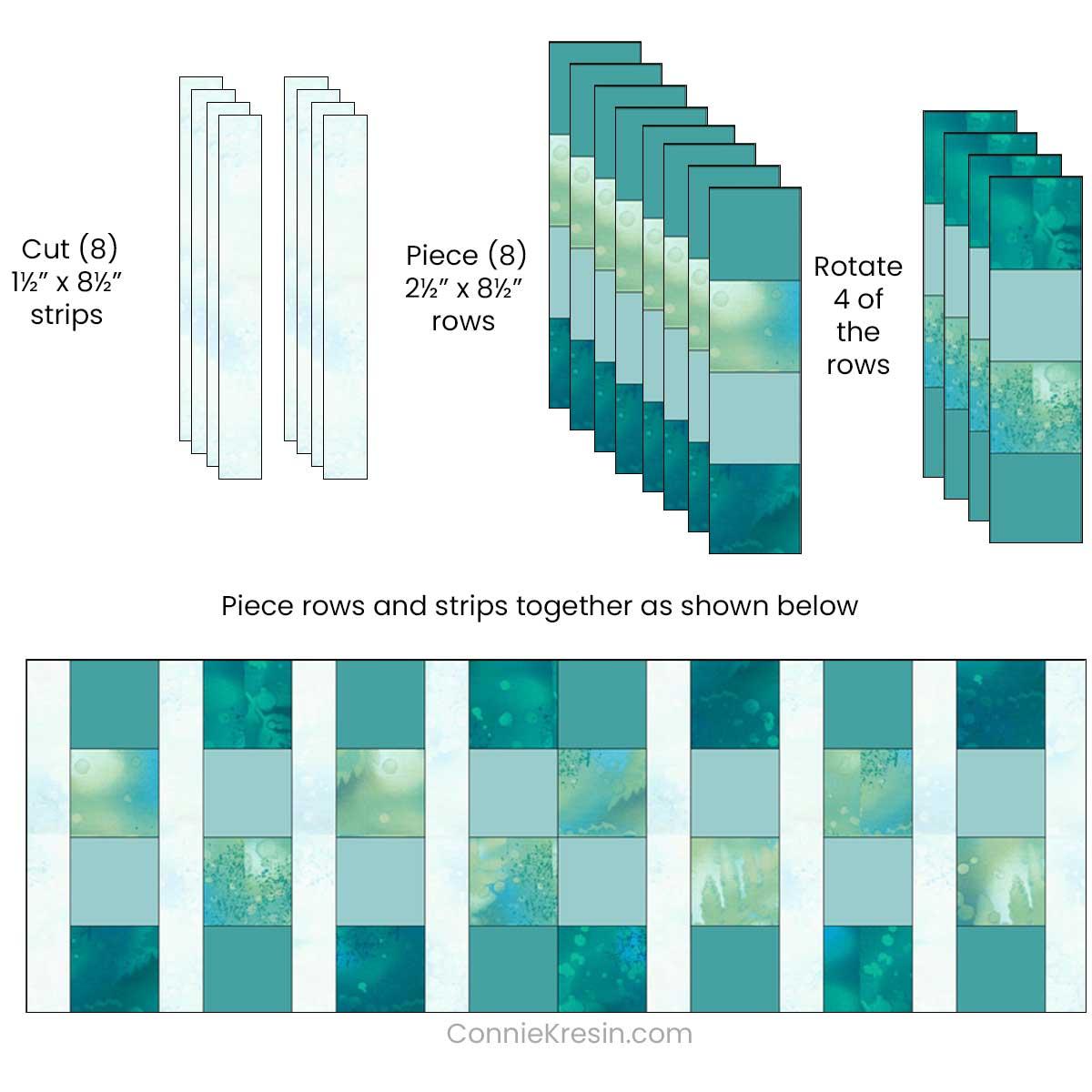 Diagram of piecing