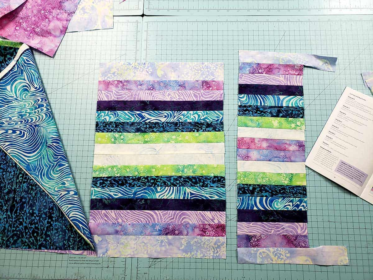 Strip sets for the bargello quilt