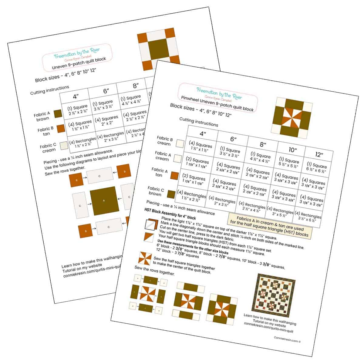 PDF of quilt blocks