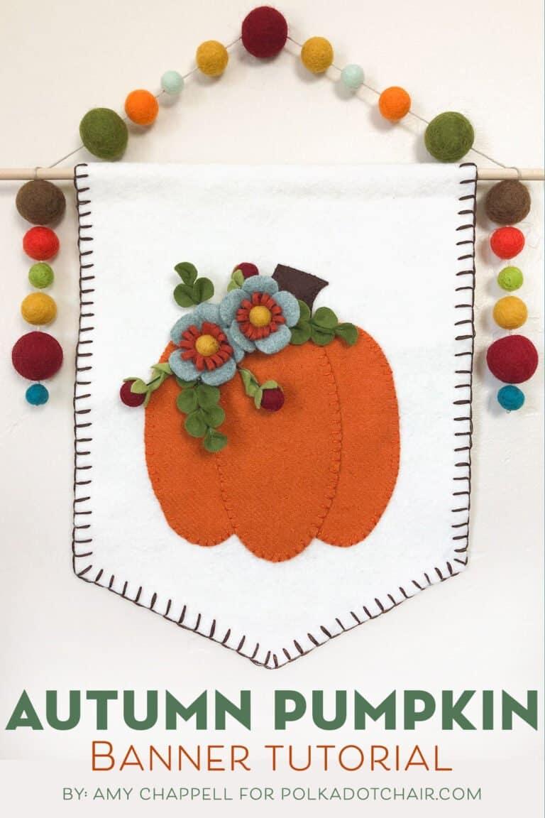 Wool pumpkin banner