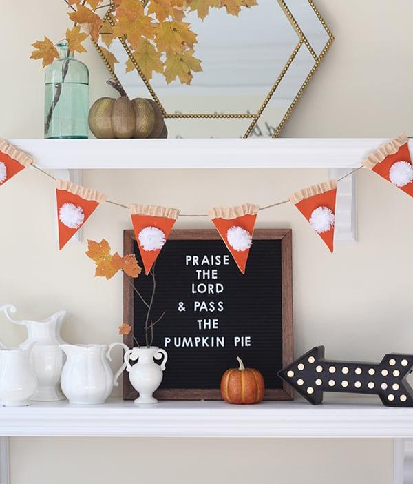 Pumpkin Pie garland