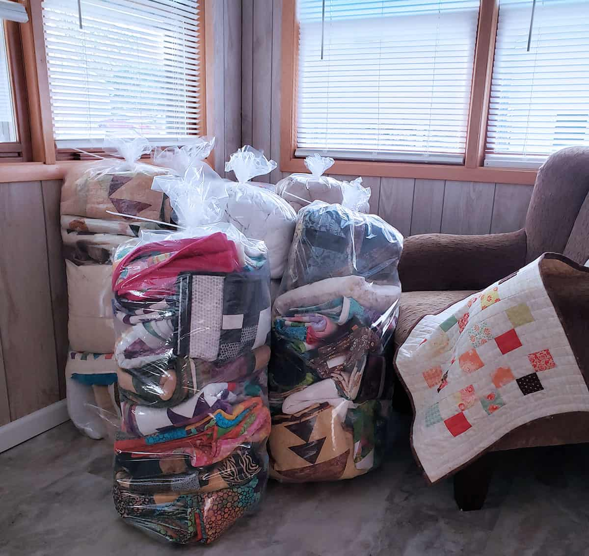 Storing quilts