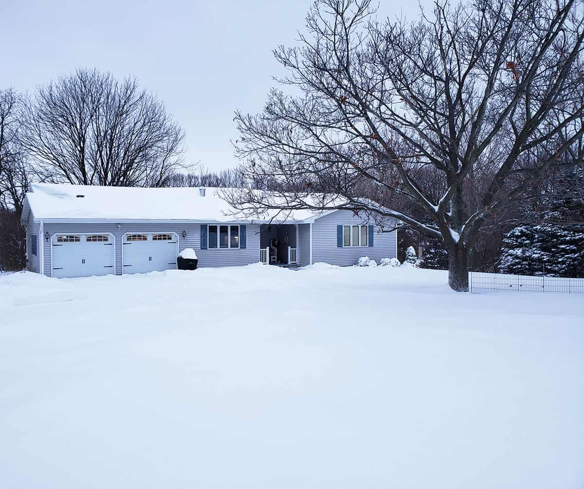 Snow and our country house