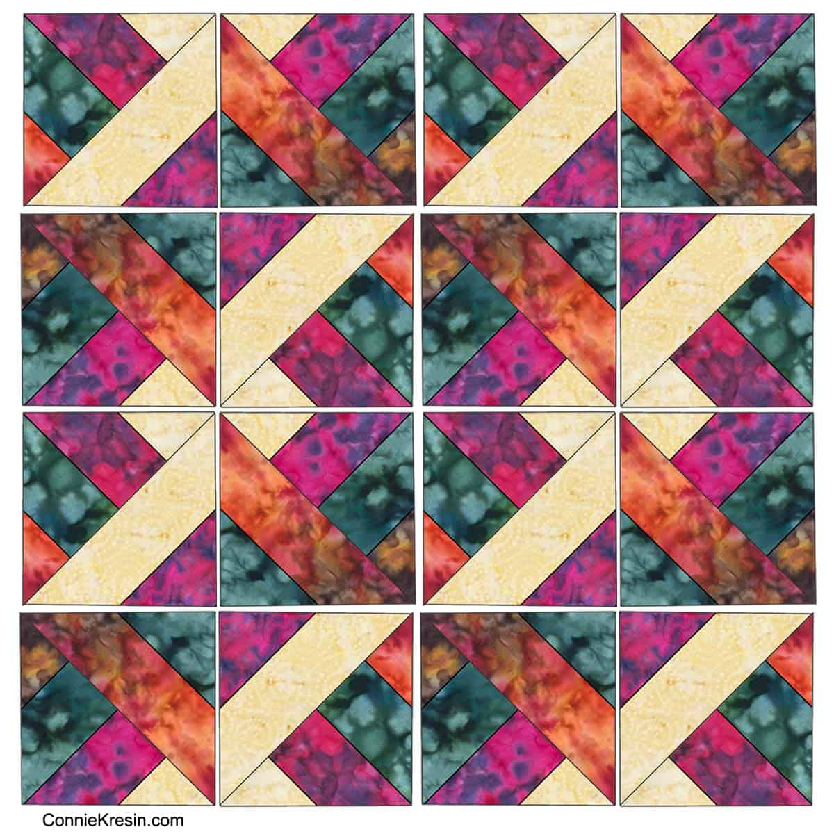 Sample of a Hidden Wells quilt