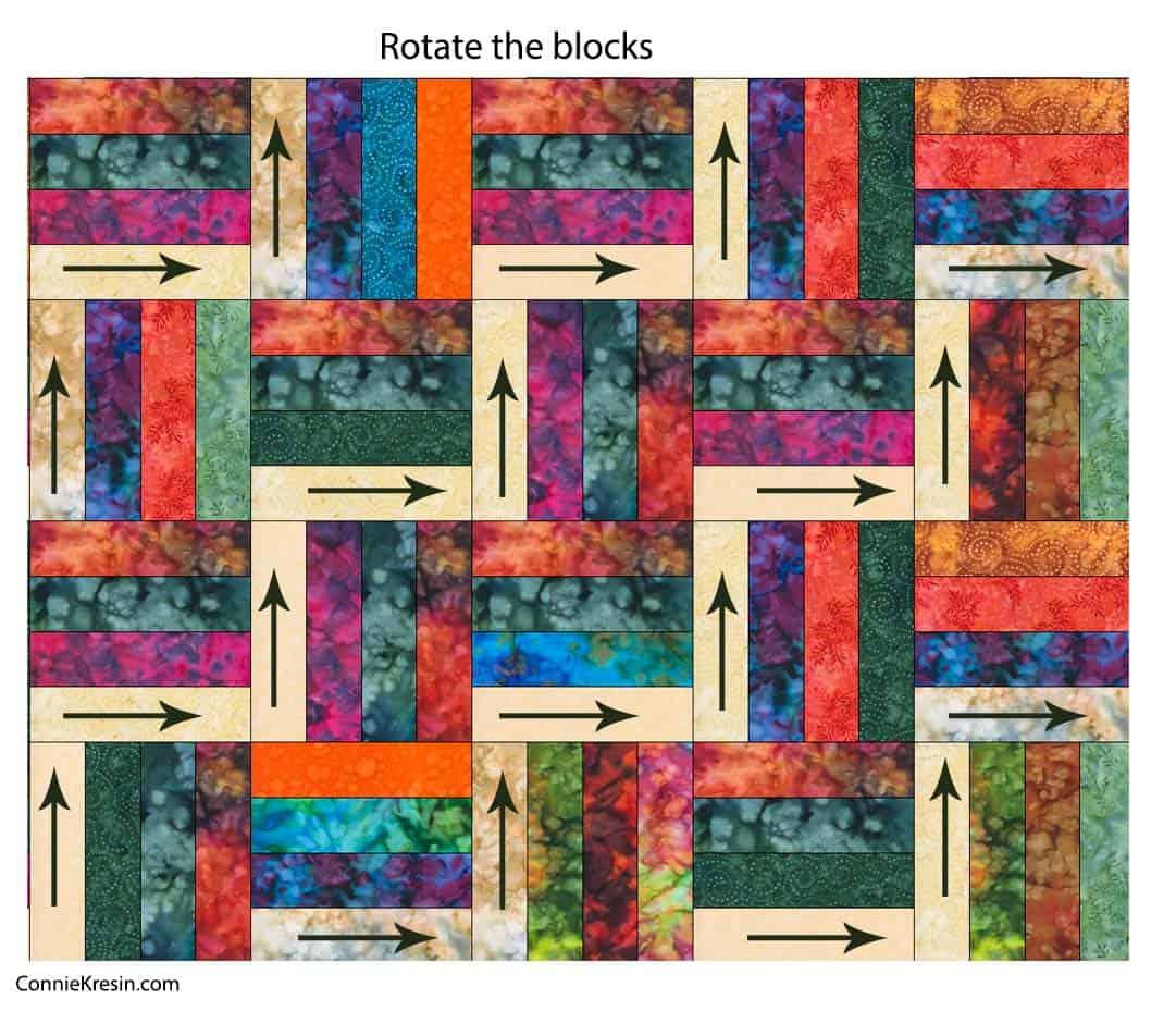 Rotate quilt blocks