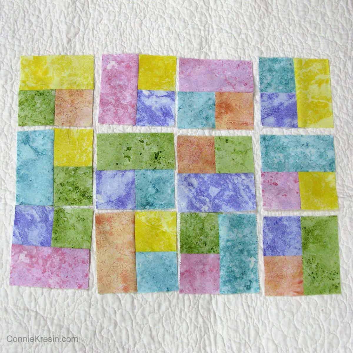placemat blocks arranged