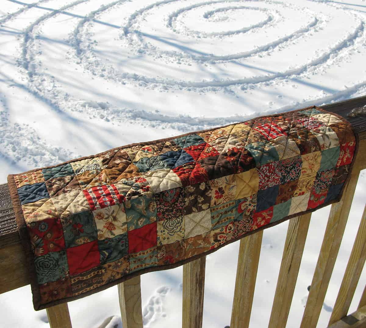 vintage chocolate table runner by snow circle
