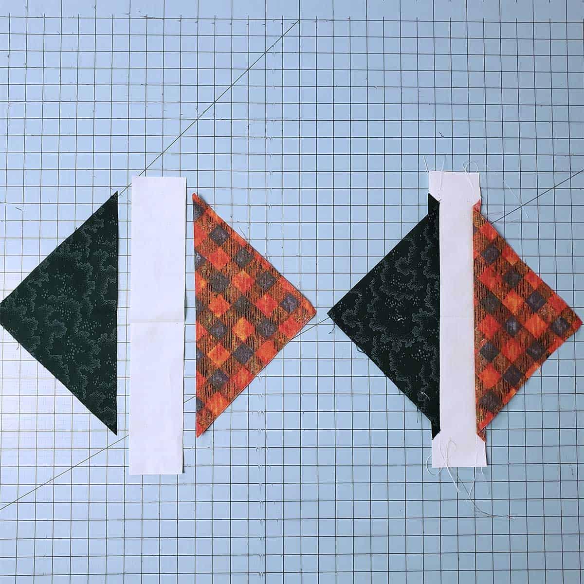 cutting the quilt blocks